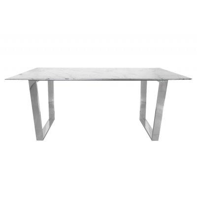 Stół Madera srebrny/biały 75/80/160