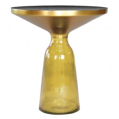 Stolik kawowy Bottle Table żółty 50/53