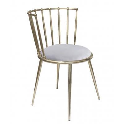 Krzesło Celano 52/55/73 złoty/szary