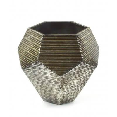 Wazon dekoracyjny metaloplastyka pięciobok