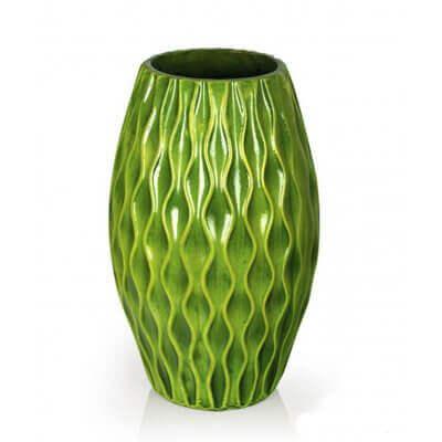 Wazon dekoracyjny zielony 40 cm