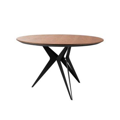 Drewniany stół stalowe nogi 120 x 75