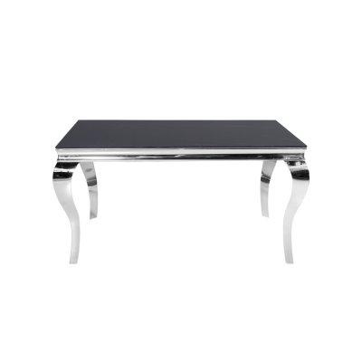 Stół z marmurowym czarnym blatem modern barock 150 x 90 x 75