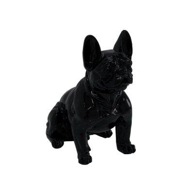 Figura buldog francuski czarna 37 x 40 x 22
