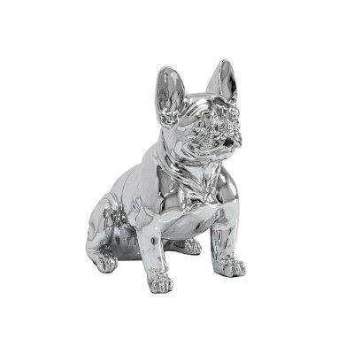 Figura buldog francuski srebrny 37 x 40 x 22