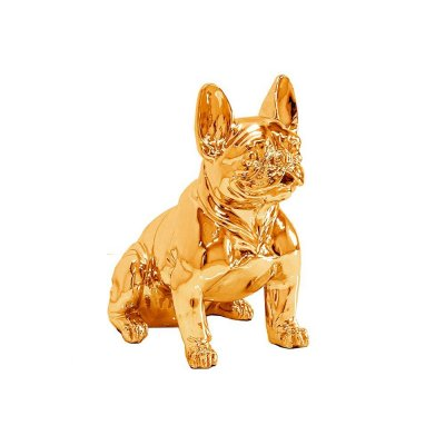 Figura buldog francuski złota 37 x 40 x 22