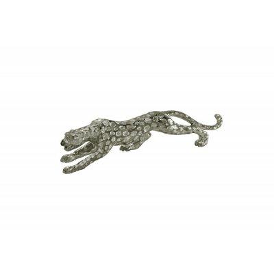 Figura geparda srebrna 48 x 11 x 15
