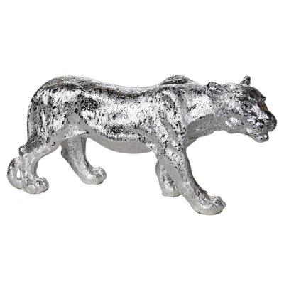 Figura lwicy srebrna 52 x 14 x 25