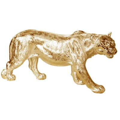 Figura lwicy złota 78 x 16 x 36