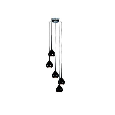 Lampa wisząca Aga 5 black
