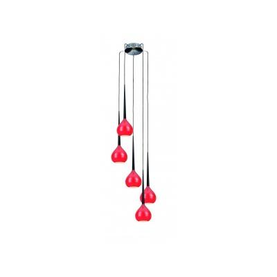 Lampa wisząca Aga 5 red