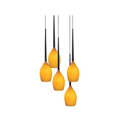 Lampa wisząca Izza 5 amber