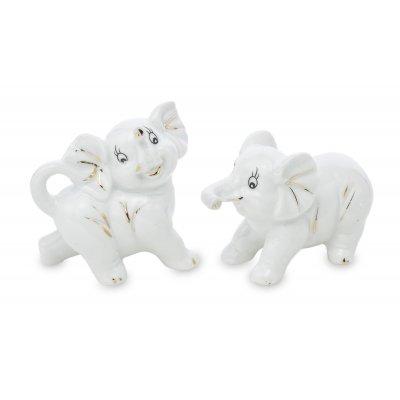 Pl Słonie Ceramiczne Kpl 2Szt